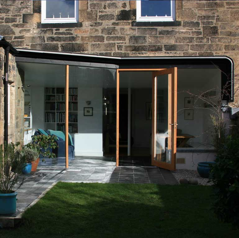 Newhaven road house edinburgh for Garden house extension