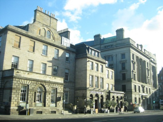 Edinburgh New Town Building near Charlotte Square