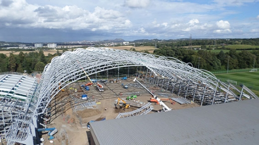 Oriam Scotlands Sports Performance Centre construction