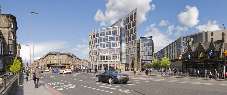 Haymarket Edinburgh Buildings, Development