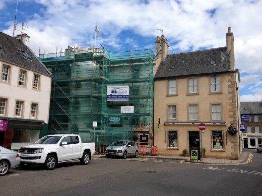 George Hotel in Haddington building renewal