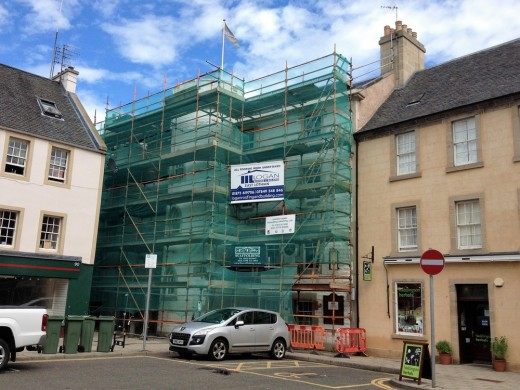 George Hotel in Haddington building refurbishment