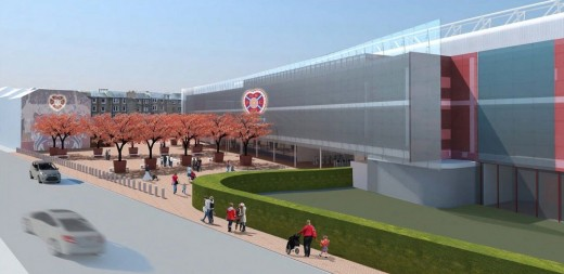 Tynecastle Redevelopment New Hearts Stand Building