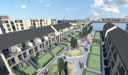 Waterfront Plaza in Leith homes