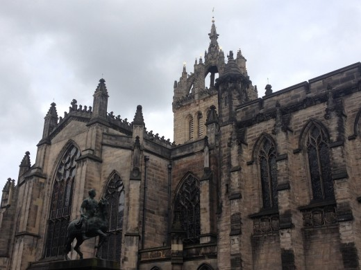 St Giles' Cathedral Edinburgh building from south