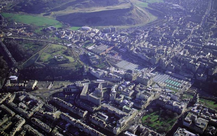 St Andrew Square Edinburgh aerial photo