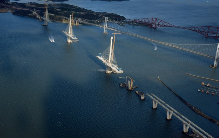 Queensferry Crossing aerial photo