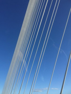 Queensferry Crossing cables New Forth Road Bridge