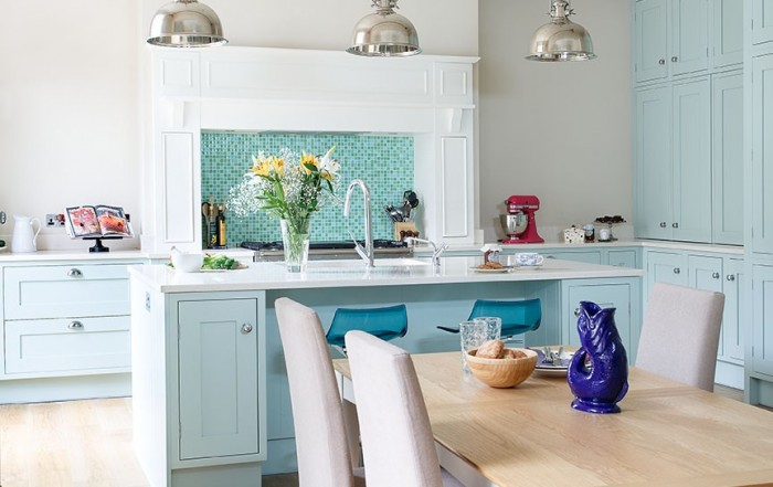 Shaker Kitchen in Edinburgh: Beautiful Blue - Kitchens International