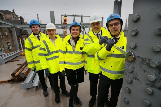 Market Street Hotel Edinburgh topping out
