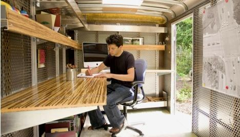 Trailer office of Andreas Stavropoulos