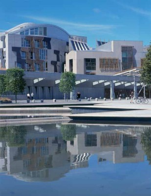 Scottish Parliament Building in Edinburgh