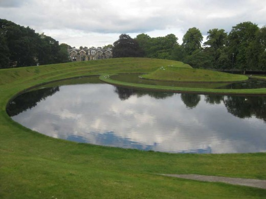Charles Jencks earthworks at SNGMA Edinburgh
