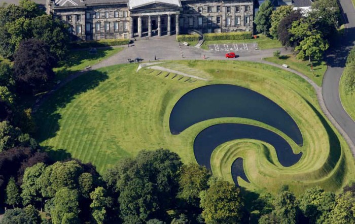 Landform Edinburgh SNGMA, Scotland, by Charles Jencks