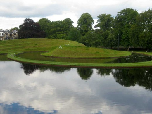 Charles Jencks landscape at SNGMA Edinburgh