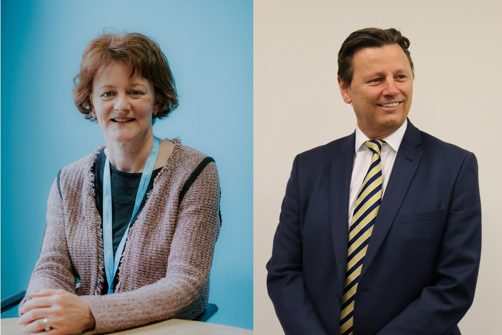 Fife College CEO Sue Reekie + Gardiner & Theobald Partner David Logue