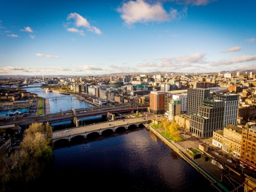 Custom House building in Glasgow by River Clyde